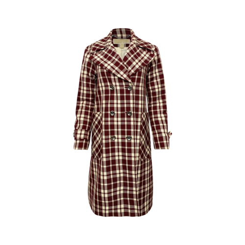 Michael Kors Red Plaid Coat