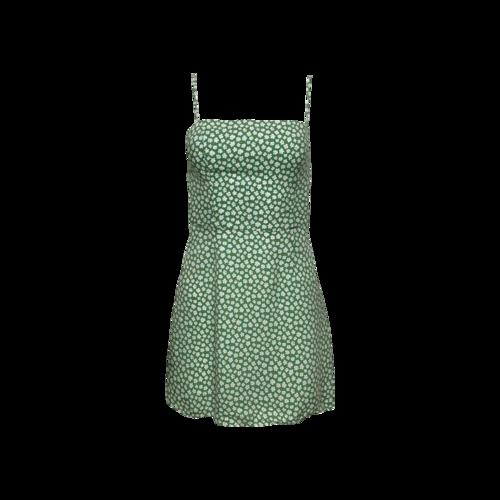 "Reformation Green ""Preston"" Floral Mini Dress"