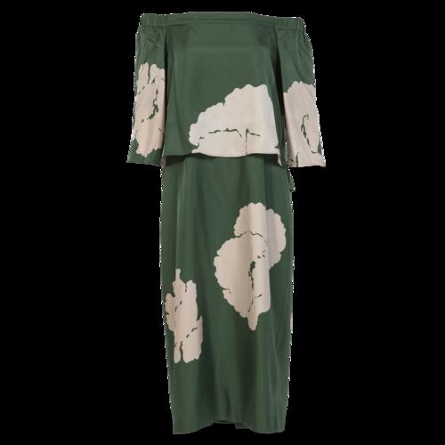 Tibi Silk Off-The-Shoulder Dress