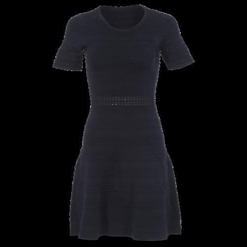 Sandro Paris Sandro Fitted Black Flared Dress