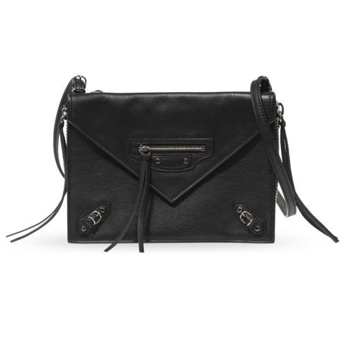 Balenciaga Black Purse with Front Pocket