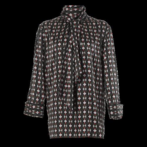 Fendi Patterned Silk Blouse