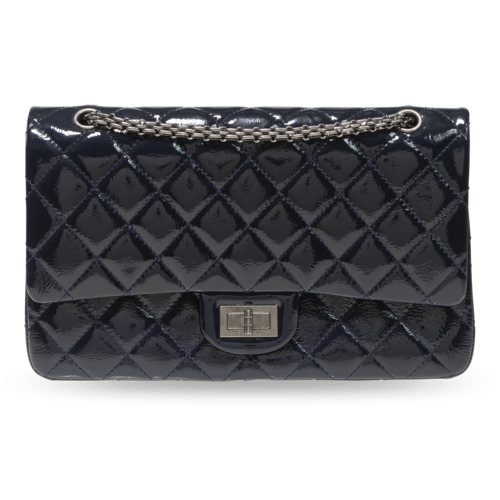 CHANEL Chanel Patent Leather Quilted Bag