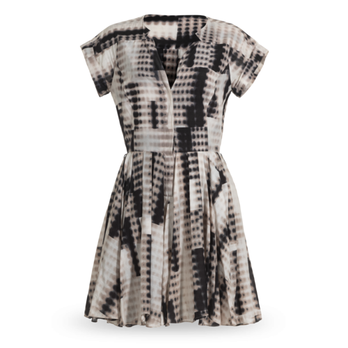 Halston Heritage Print Mini Dress