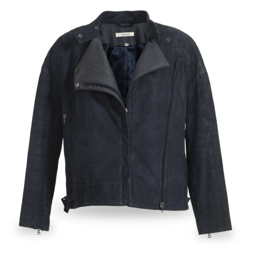 J Brand Suede Navy Leather Jacket