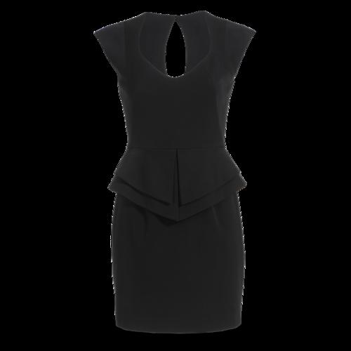 Black Halo Peplum Fitted Dress
