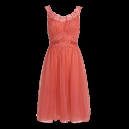 Boutique Vintage Coral Lace Dress