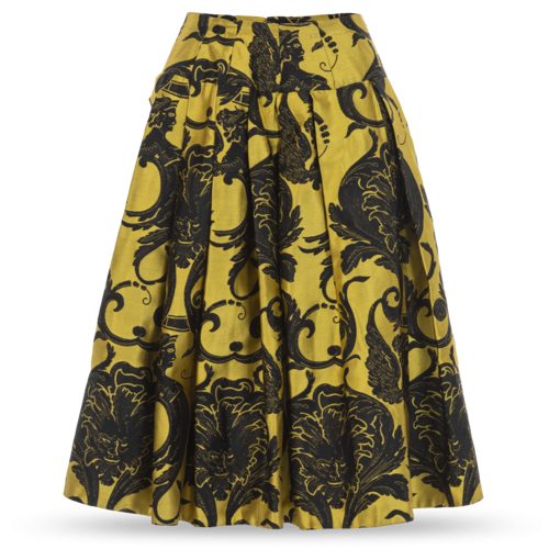 Custom Made Custom-Made Chartreuse Voluminous Skirt