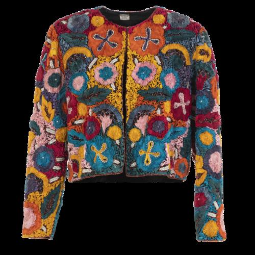 Custom Made Bohemian Silk Jacket