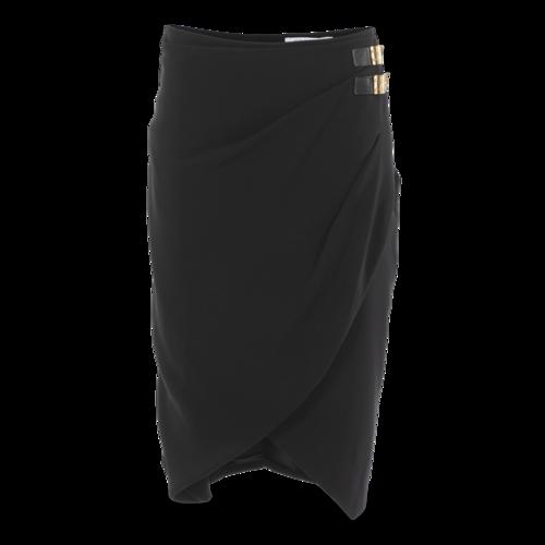 Altuzarra Black Wrap Skirt