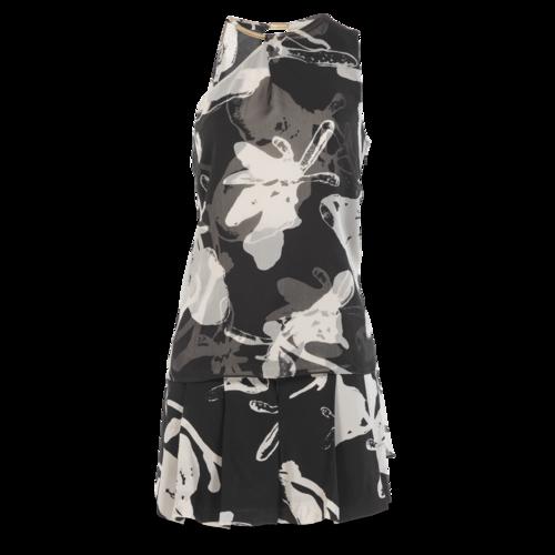 Halston Heritage B&W Silk Printed Shorts Set