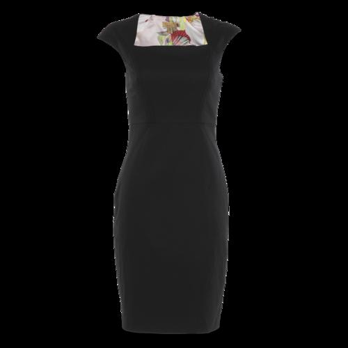Ted Baker Black Cap-Sleeve Dress