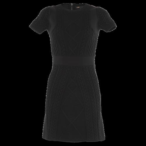 Maje Black Short Sleeve Dress