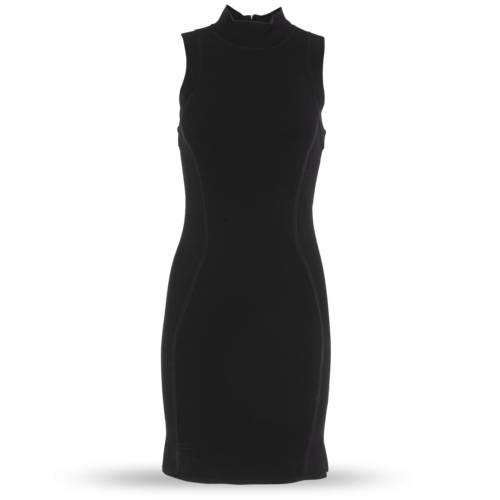 Parker Black Ribbed Bodycon Dress