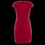 Red Cowlneck Sheath Dress