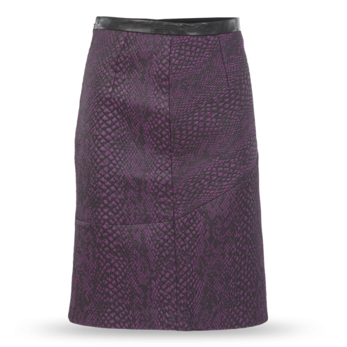 Tibi Faux Snakeskin Textured Pencil Skirt