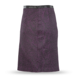 Faux Snakeskin Textured Pencil Skirt