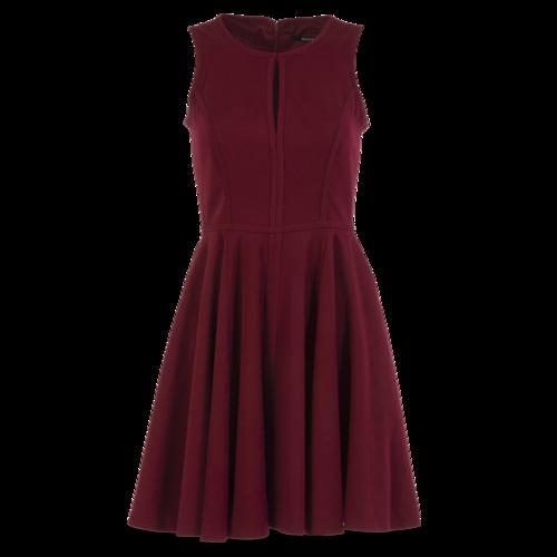 Black Halo Burgundy Skater Dress