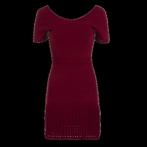 Sandro Paris Sandro Short Sleeve Cranberry Dress