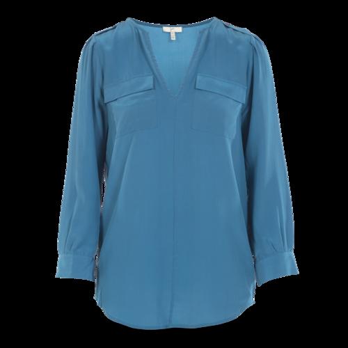 Joie Blue Long Sleeve Blouse