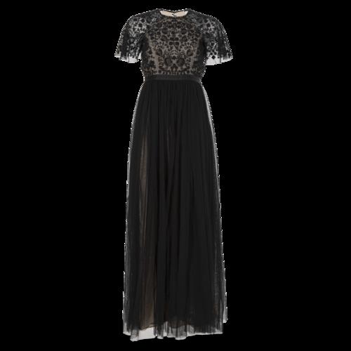 Needle & Thread Short Sleeve Tulle Gown