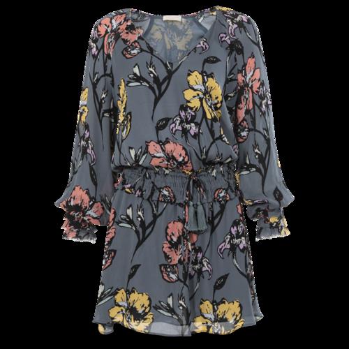 Ramy Brook Blue Floral Print Dress