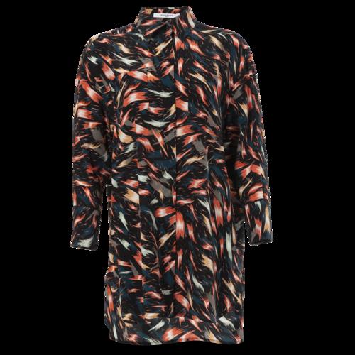 Givenchy Silk Brushstroke Print Blouse