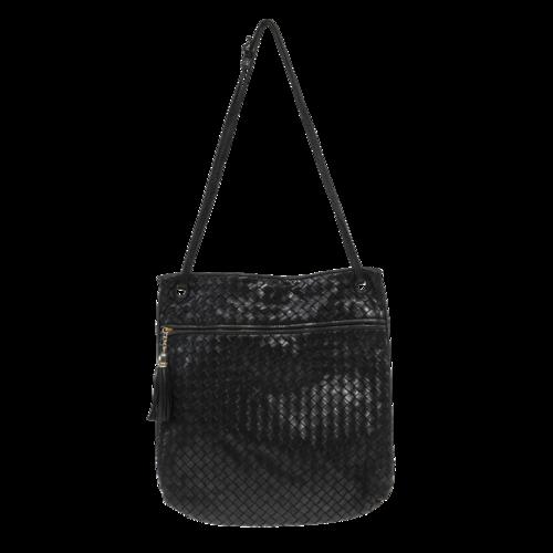 Bottega Veneta Leather Basket Woven Crossbody Bag