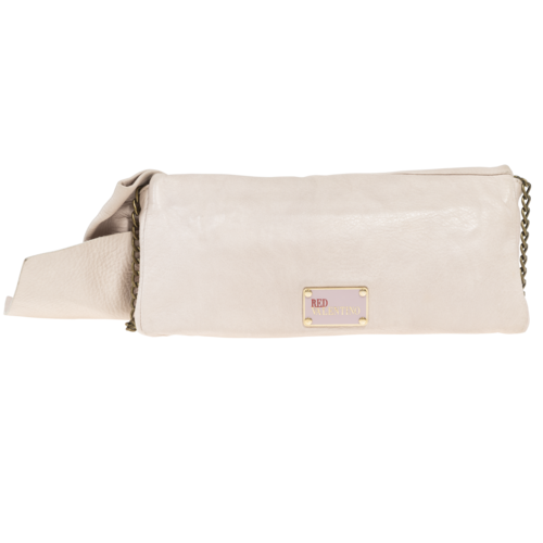 RED Valentino Light Pink Bow Clutch