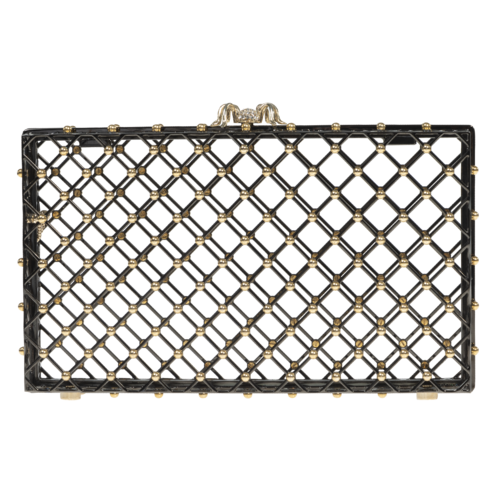 Charlotte Olympia Spider Cage Clutch