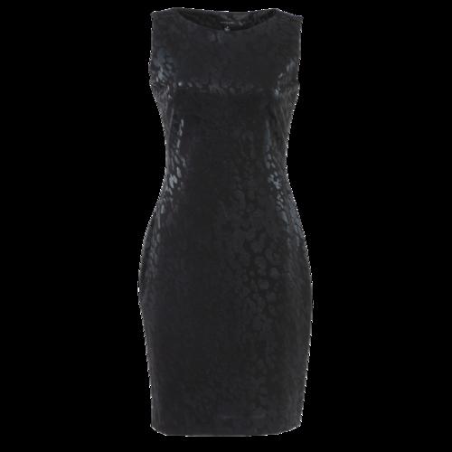 Saks Fifth Avenue Black Leopard Print Sleeveless Dress