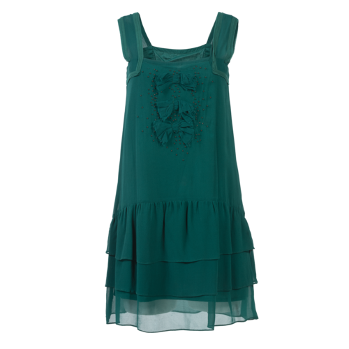 Maje Teal Beaded Mini dress