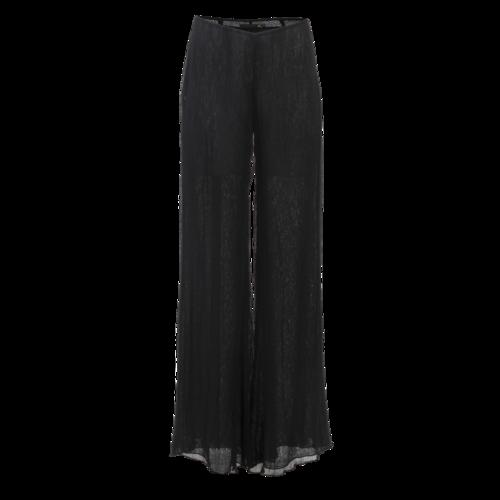 Roberto Cavalli Just Cavalli Long Black Sheer Flared Pants