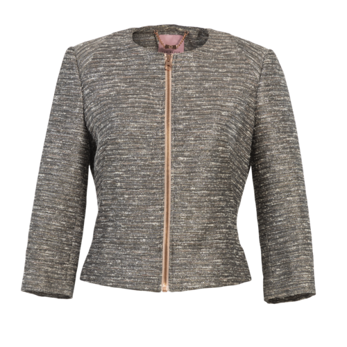 Ted Baker Metallic Tweed Jacket
