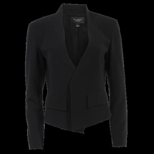 St. John Caviar Black Blazer
